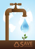 Valve watering tree.Concept of environmental protection Stock Images