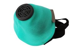 Valved Respirator. Disposable Dust Face Mask. royalty free stock image
