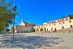 Valverde sanctuary square in Alghero Stock Photography