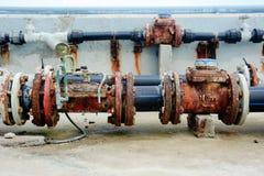 Valves&pipes oxidados Imagem de Stock Royalty Free