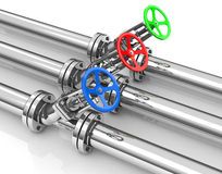 The valves. 3d generated picture of some valves Stock Photo
