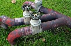 Valves, valves de chrome, valves de l'eau, Photos libres de droits