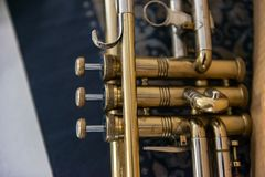 Valves de Jazz Trumpet Images stock