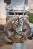 Valves de leviers de serrures Photo stock