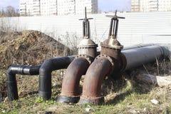 Valves de système d'approvisionnement en eau Photo stock