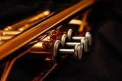 Valves de trompette Photos libres de droits