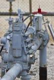 Valves de tête de puits Photos stock