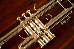 Valves et glissières de trompette Image stock