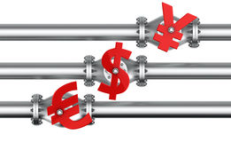 Financial flow Stock Images