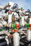 Valves at gas plant Royalty Free Stock Photo