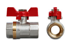 Valves for hot water Royalty Free Stock Photo
