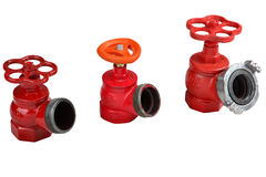 Valves hydrant fire hose connection of Royalty Free Stock Photo