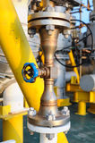 Valves manual in the process  Production process used manual valve to control Royalty Free Stock Image