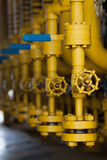 Valves manual in the process  Production process used manual valve to control Stock Image