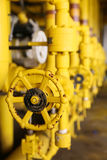 Valves manual in the process,Production process used manual valve to control the system,dirty or old manual valve,valve in oil Royalty Free Stock Photo