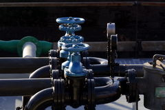 Valves and pipelines Stock Image