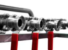 Valves and pipes. Abstract Stock Photos