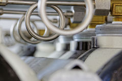 Valves and pipes. In industry Royalty Free Stock Photo