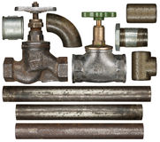 Valves and pipes Royalty Free Stock Photo