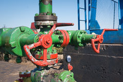 Valves and piping Stock Image