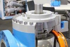 Valves regulating and locking regulating. Gate valves stock photos