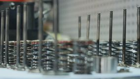 Valves and springs from motorbike stock video footage