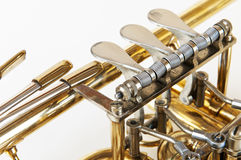Valves of a wind instrument Royalty Free Stock Photo