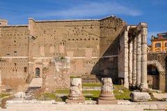 Valvgång inom Colosseum, Rome, Italien Royaltyfria Bilder