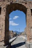 Valvgång Pompeii arkeologisk plats, nr Mount Vesuvius, Italien Arkivfoton