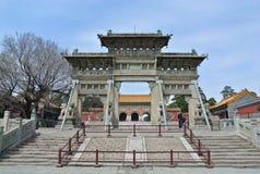 Valvgången till gravvalvet av Huang Taji arkivbilder