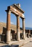 valvgångpelare pompeii Royaltyfria Foton