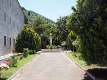 Valvisciolo修道院在意大利 免版税库存照片