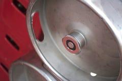 Valvola del barile di un barile d'acciaio Fotografia Stock