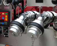 Valvola del motore del fuoco Fotografie Stock