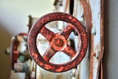 Valvola di Rusty Old Safety Shut Off Immagini Stock