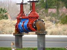 Valvola industriale del main di acqua Fotografia Stock Libera da Diritti