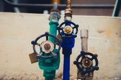 Valvola industriale del tubo/valvola a saracinesca fotografie stock