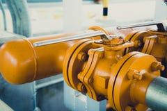 Valvola industriale del tubo/valvola a saracinesca fotografia stock libera da diritti