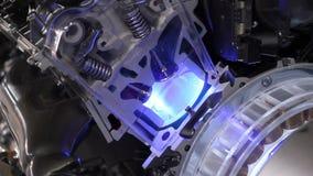 Valvole del motore dell'ibrido del gatto video d archivio