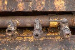 Valvole dell'olio della macchina in miniera fotografia stock libera da diritti
