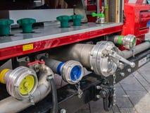 Valvole di un camion dei vigili del fuoco olandese moderno Immagine Stock Libera da Diritti