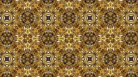 Valzer geometrico dei modelli dorati del caleidoscopio illustrazione vettoriale