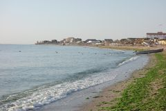 Vama Veche at the Black Sea in Romania Royalty Free Stock Photography