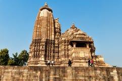 Vamana tempel i Khajuraho Royaltyfria Foton