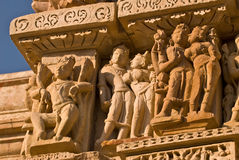 Vamana Temple.India. Details of sculpture on outer wall of the Vamana Temple at Khajuraho.India Royalty Free Stock Photos