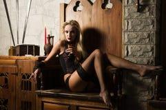 vamp γυναίκα Στοκ Φωτογραφίες