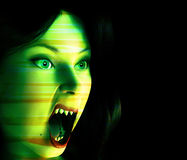 Vamp 44. An image of a female vampire that look scary and freighting and are also angry Stock Image