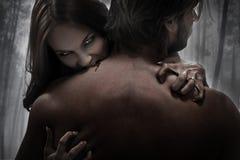 vamp妇女 免版税库存图片