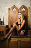 Vamp atractivo de la mujer Foto de archivo libre de regalías
