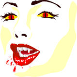 Vamp face Stock Images